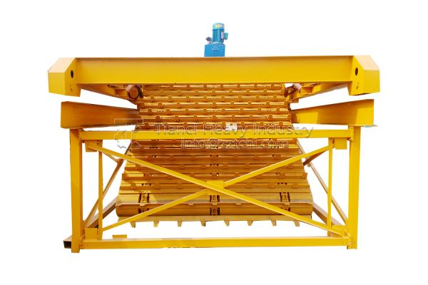 High efficiency chain plate fermentation compost turning machine