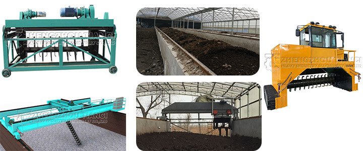 The necessary compost windrow turner for sheep manure organic fertilizer fermentation