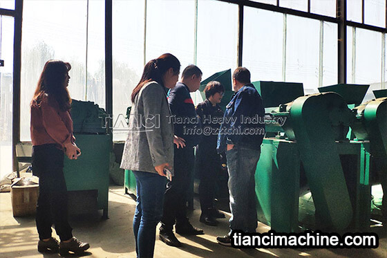 Jordan customer visit our fertilizer equipment manufacturing plant