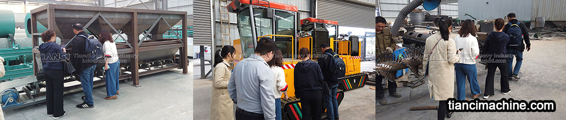 Libyan customers come to our plant to visit fertilizer equipment