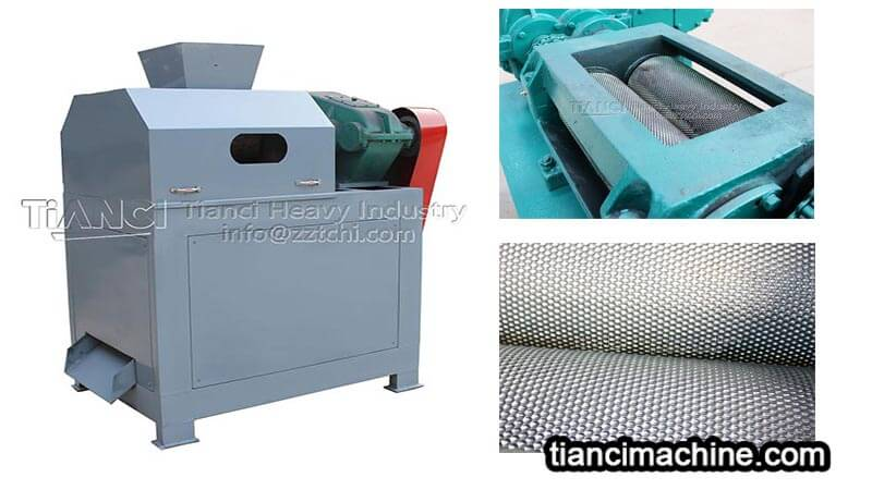 Non drying extrusion double roller granulator