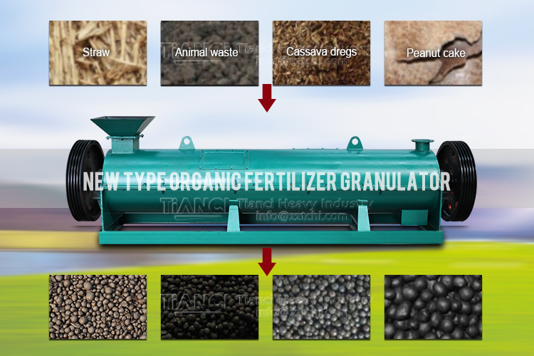 Why should fertilizer be made into granules in the production of organic fertilizer?
